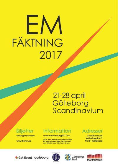 Grafisk Design EM i fäktning Anna Hedenrud