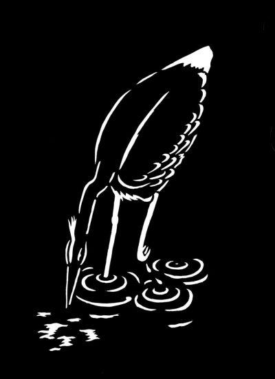 Illustration Drömdjur Gråhäger Anna Hedenrud